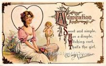 val002113 - Valentines Day Post Cards Old Vintage Antique Postcards
