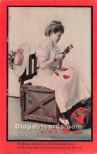 val002117 - Valentines Day Post Cards Old Vintage Antique Postcards