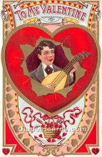 val002130 - Valentines Day Post Cards Old Vintage Antique Postcards