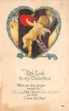 val002137 - Valentines Day Post Cards Old Vintage Antique Postcards