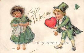 val002152 - Valentines Day Post Cards Old Vintage Antique Postcards