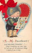 val002162 - Valentines Day Post Cards Old Vintage Antique Postcards