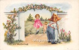 val002166 - Valentines Day Post Cards Old Vintage Antique Postcards