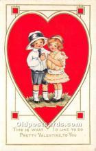 val002167 - Valentines Day Post Cards Old Vintage Antique Postcards