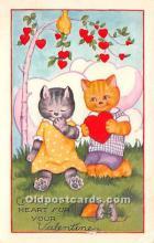 val002168 - Valentines Day Post Cards Old Vintage Antique Postcards
