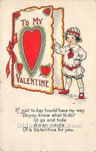 val002170 - Valentines Day Post Cards Old Vintage Antique Postcards
