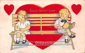 val002173 - Valentines Day Post Cards Old Vintage Antique Postcards