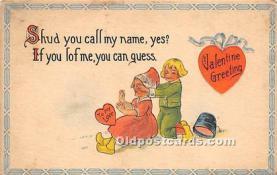 val002180 - Valentines Day Post Cards Old Vintage Antique Postcards