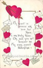 val002186 - Valentines Day Post Cards Old Vintage Antique Postcards