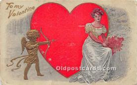 val002188 - Valentines Day Post Cards Old Vintage Antique Postcards
