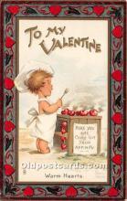 val002191 - Valentines Day Post Cards Old Vintage Antique Postcards
