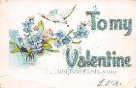 val002196 - Valentines Day Post Cards Old Vintage Antique Postcards