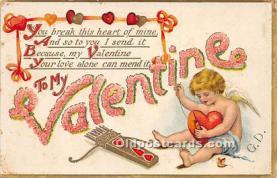 val002197 - Valentines Day Post Cards Old Vintage Antique Postcards
