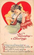 val002201 - Valentines Day Post Cards Old Vintage Antique Postcards