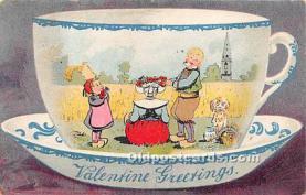 val002207 - Valentines Day Post Cards Old Vintage Antique Postcards