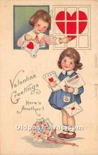 val002213 - Valentines Day Post Cards Old Vintage Antique Postcards