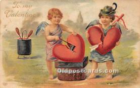 val002222 - Valentines Day Post Cards Old Vintage Antique Postcards