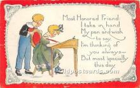 val002223 - Valentines Day Post Cards Old Vintage Antique Postcards