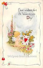 val002224 - Valentines Day Post Cards Old Vintage Antique Postcards