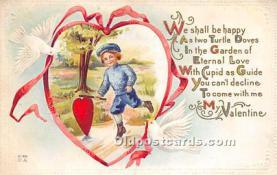 val002225 - Valentines Day Post Cards Old Vintage Antique Postcards