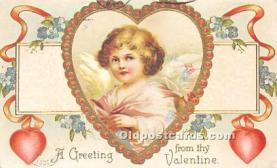 val002227 - Valentines Day Post Cards Old Vintage Antique Postcards