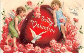 val003001 - Valentines Day Post Card Old Vintage Antique