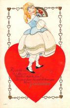 val003003 - Valentines Day Post Card Old Vintage Antique