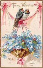 val003005 - Valentines Day Post Card Old Vintage Antique