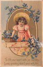 val003007 - Valentines Day Post Card Old Vintage Antique
