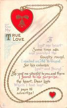 val003011 - Valentines Day Post Card Old Vintage Antique