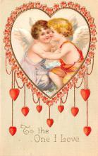 val003019 - Valentines Day Post Card Old Vintage Antique
