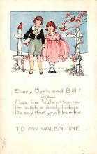 val003021 - Valentines Day Post Card Old Vintage Antique