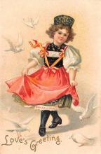val003027 - Valentines Day Post Card Old Vintage Antique