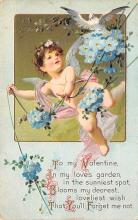 val003029 - Valentines Day Post Card Old Vintage Antique