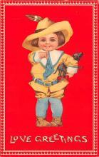 val003035 - Valentines Day Post Card Old Vintage Antique