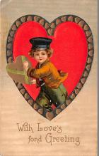val003037 - Valentines Day Post Card Old Vintage Antique
