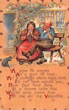 val003039 - Valentines Day Post Card Old Vintage Antique