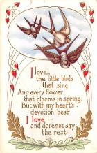 val003043 - Valentines Day Post Card Old Vintage Antique