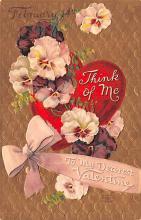 val003045 - Valentines Day Post Card Old Vintage Antique