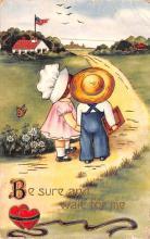 val003049 - Valentines Day Post Card Old Vintage Antique