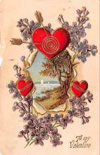 val003051 - Valentines Day Post Card Old Vintage Antique