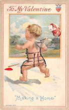 val003055 - Valentines Day Post Card Old Vintage Antique