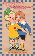 val003059 - Valentines Day Post Card Old Vintage Antique