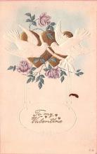 val003061 - Valentines Day Post Card Old Vintage Antique