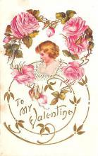 val003067 - Valentines Day Post Card Old Vintage Antique