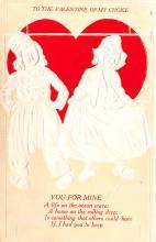 val003071 - Valentines Day Post Card Old Vintage Antique