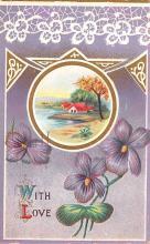 val003073 - Valentines Day Post Card Old Vintage Antique
