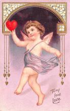 val003075 - Valentines Day Post Card Old Vintage Antique