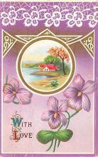 val003077 - Valentines Day Post Card Old Vintage Antique