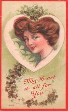 val003079 - Valentines Day Post Card Old Vintage Antique